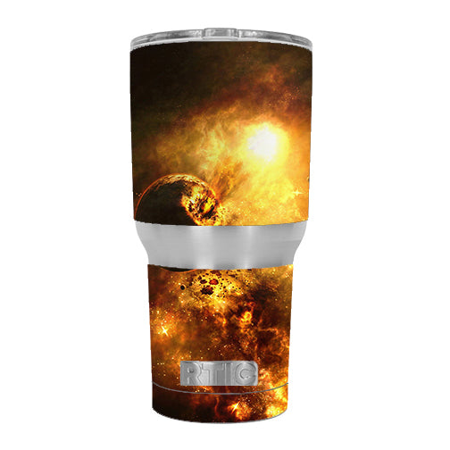 Atomic Clouds Space Planet RTIC 30oz Tumbler Skin