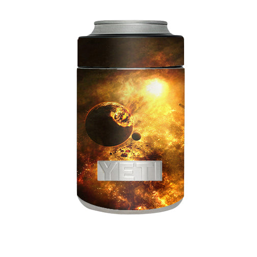 Atomic Clouds Space Planet Yeti Rambler Colster Skin