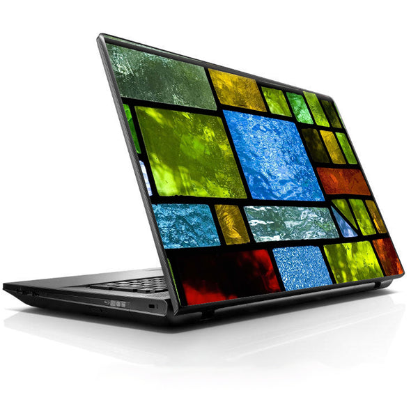 Colorful Stained Glass Universal 13 to 16 inch wide laptop Skin