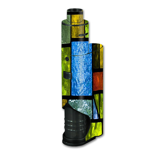 Colorful Stained Glass Kangertech dripbox Skin