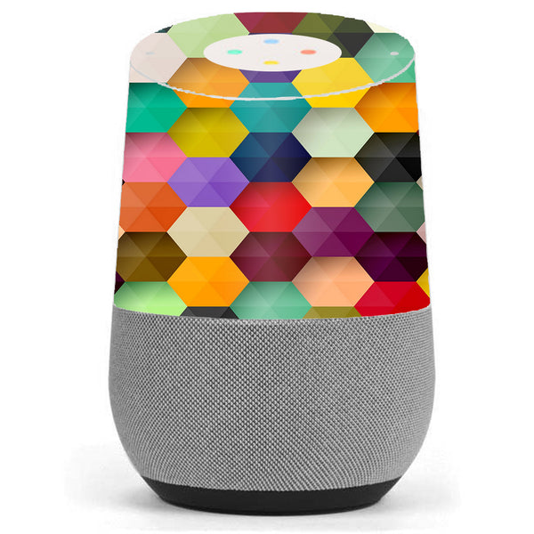 Colorful Geometry Honeycomb Google Home Skin