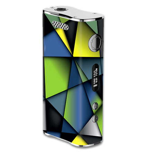 Green Blue Geometry Shapes eLeaf iStick 100W Skin