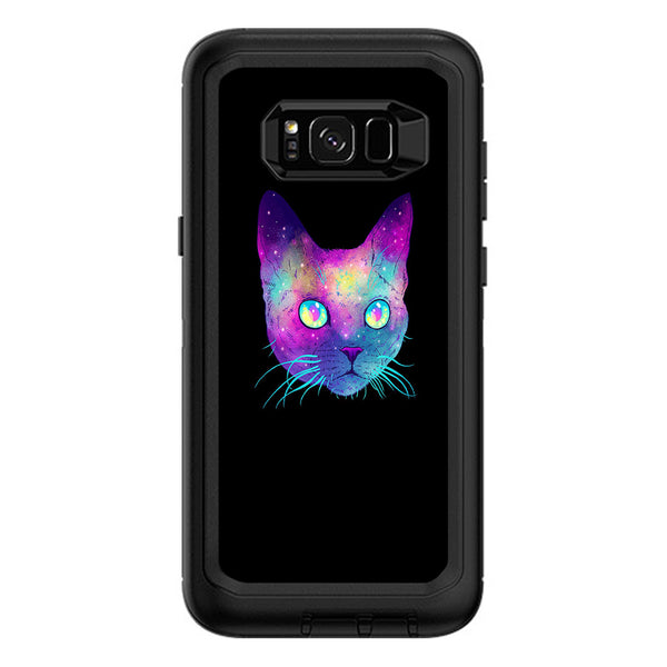 separation shoes 540e7 06c60 Colorful Galaxy Space Cat Otterbox Defender Samsung Galaxy S8 Plus Skin