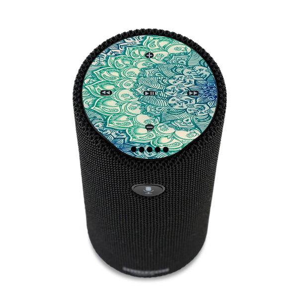 Teal Green Mandala Pattern Amazon Tap Skin