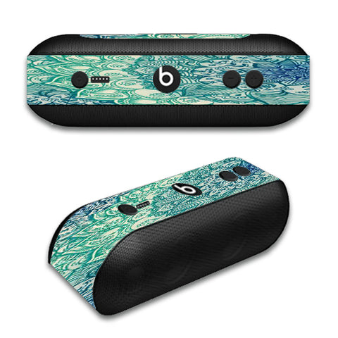 Teal Green Mandala Pattern Beats by Dre Pill Plus Skin