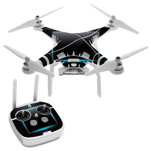 Glowing Blue Tech DJI Phantom 3 Professional Skin