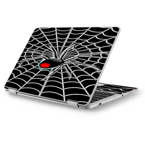 "Black Widow Spider Web Asus Chromebook Flip 12.5"" Skin"