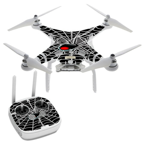 Black Widow Spider Web DJI Phantom 3 Professional Skin