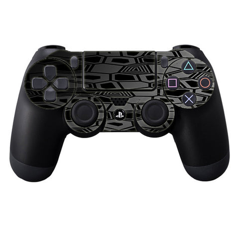 Black Silver Design Sony Playstation PS4 Controller Skin