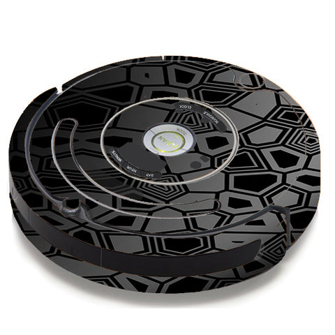 Black Silver Design iRobot Roomba 650/655 Skin