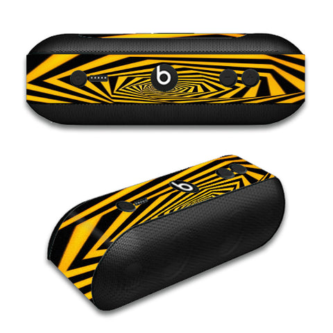 Black Yellow Trippy Pattern Beats by Dre Pill Plus Skin
