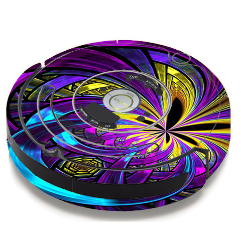 Purple Beautiful Design iRobot Roomba 650/655 Skin