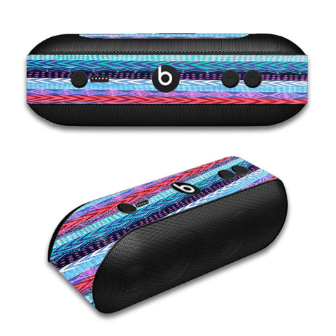 Aztec Blue Tribal Chevron Beats by Dre Pill Plus Skin
