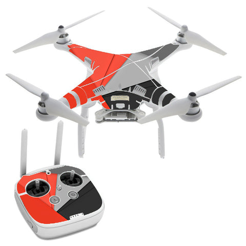 Orange And Grey DJI Phantom 3 Professional Skin