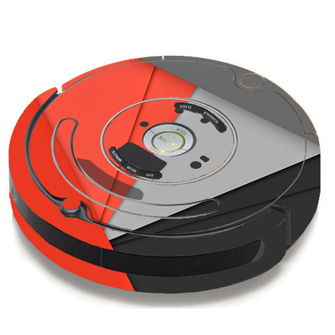 Orange And Grey iRobot Roomba 650/655 Skin