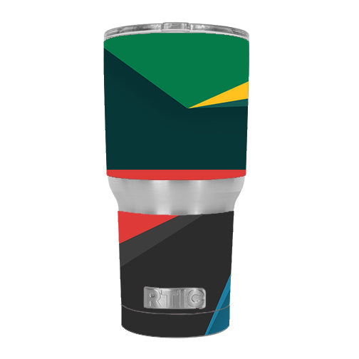 Abstract Patterns Green RTIC 30oz Tumbler Skin