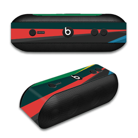 Abstract Patterns Green Beats by Dre Pill Plus Skin