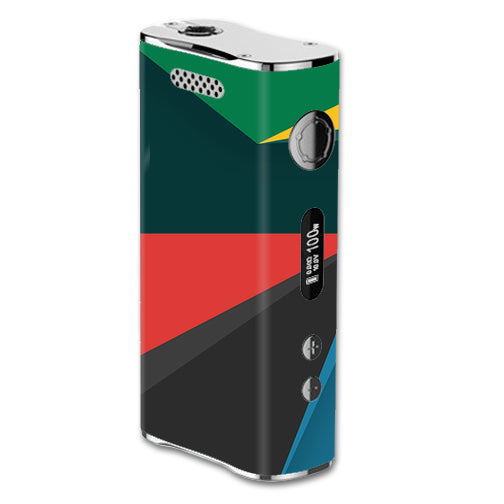 Abstract Patterns Green eLeaf iStick 100W Skin