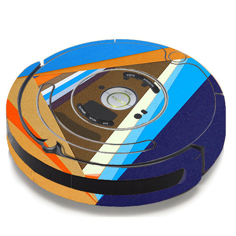 Abstract Patterns Blue Tan iRobot Roomba 650/655 Skin