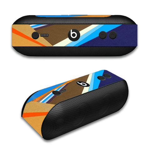 Abstract Patterns Blue Tan Beats by Dre Pill Plus Skin