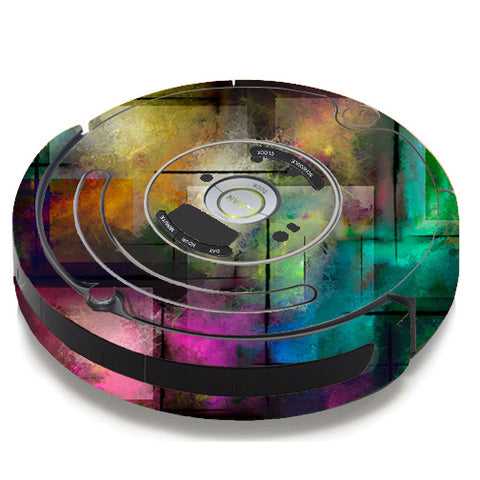 Colorful Paint Modern iRobot Roomba 650/655 Skin
