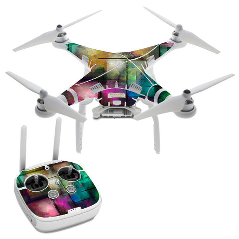 Colorful Paint Modern DJI Phantom 3 Professional Skin