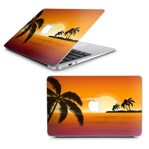 "Palm Trees At Sunset Macbook Air 11"" A1370 A1465 Skin"