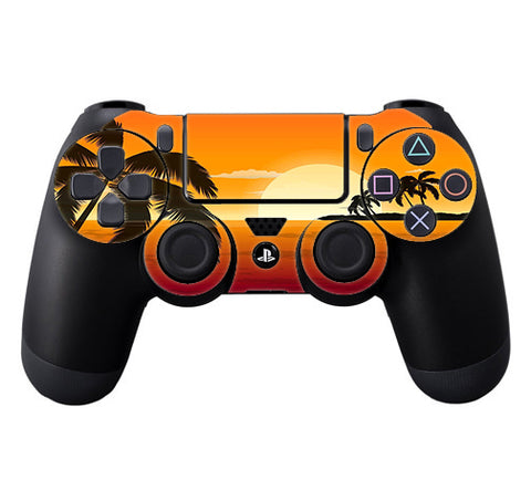 Palm Trees At Sunset Sony Playstation PS4 Controller Skin