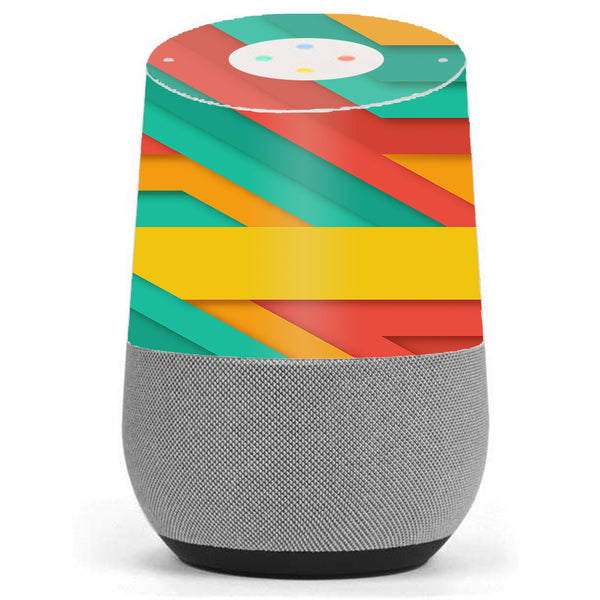 Turquoise Blue Yellow Google Home Skin
