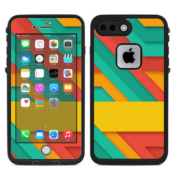 purchase cheap 19a3a f705b Turquoise Blue Yellow Lifeproof Fre iPhone 7 Plus or iPhone 8 Plus Skin