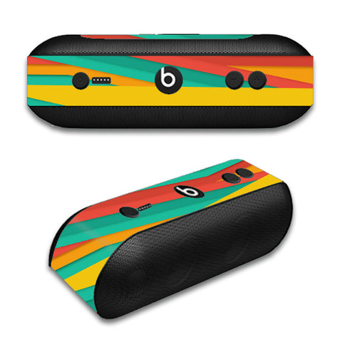 Turquoise Blue Yellow Beats by Dre Pill Plus Skin