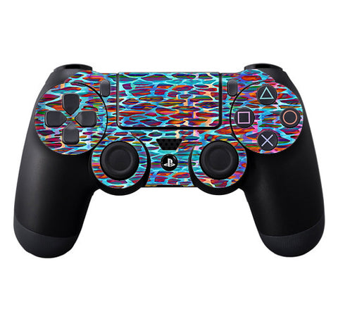 Colorful Leopard Print Sony Playstation PS4 Controller Skin