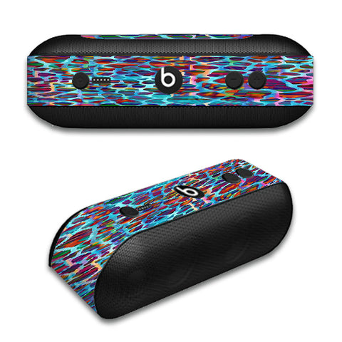 Colorful Leopard Print Beats by Dre Pill Plus Skin