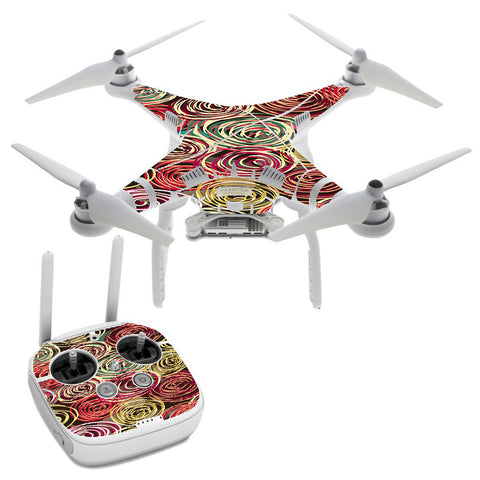 Round Swirls Abstract DJI Phantom 3 Professional Skin