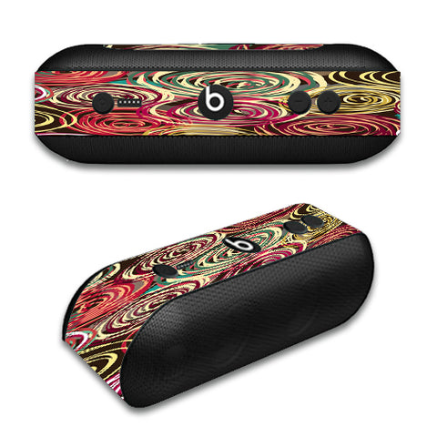 Round Swirls Abstract Beats by Dre Pill Plus Skin