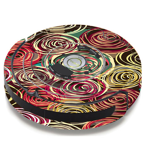 Round Swirls Abstract iRobot Roomba 650/655 Skin