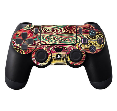 Round Swirls Abstract Sony Playstation PS4 Controller Skin
