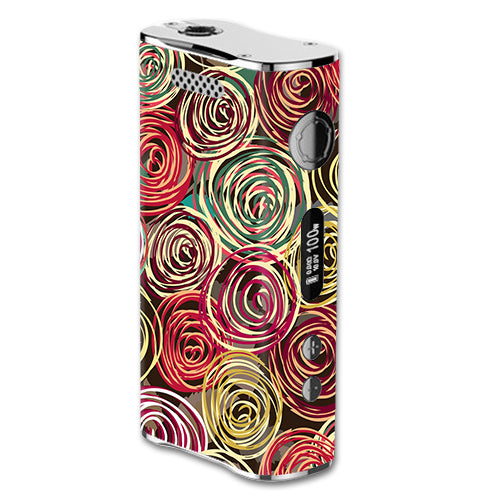Round Swirls Abstract eLeaf iStick 100W Skin