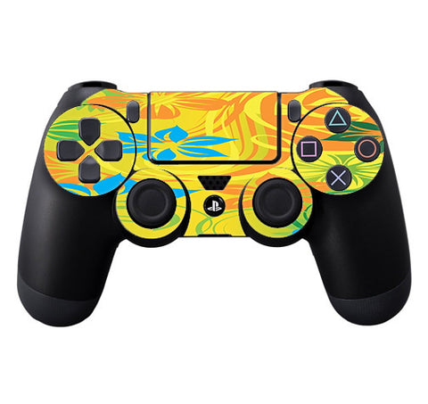 Colorful Floral Pattern Sony Playstation PS4 Controller Skin