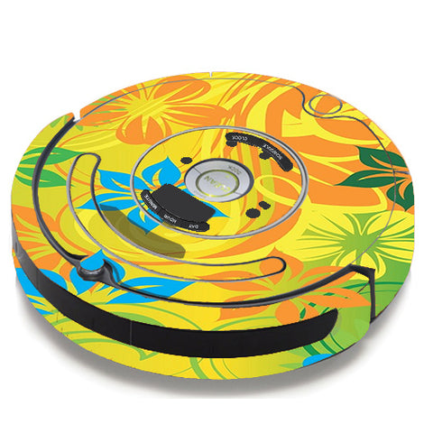 Colorful Floral Pattern iRobot Roomba 650/655 Skin