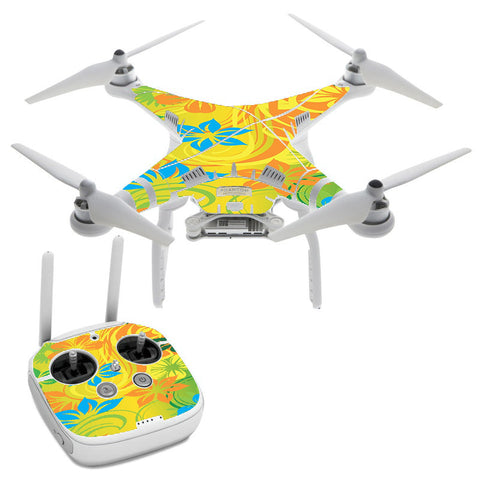 Colorful Floral Pattern DJI Phantom 3 Professional Skin