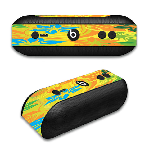 Colorful Floral Pattern Beats by Dre Pill Plus Skin