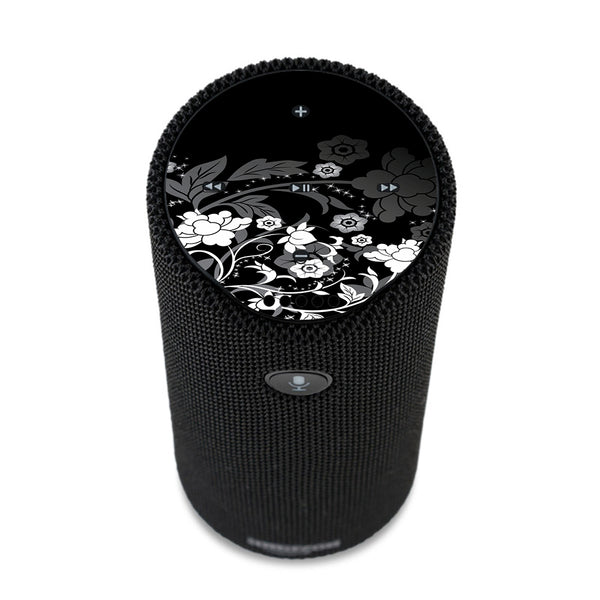 Black Floral Pattern Amazon Tap Skin