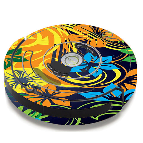 Tropical Flowers iRobot Roomba 650/655 Skin