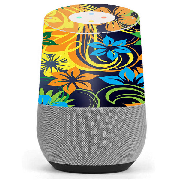 Tropical Flowers Google Home Skin