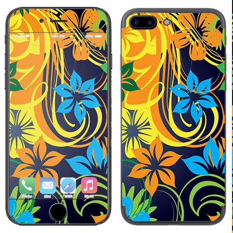 Tropical Flowers Apple  iPhone 7+ Plus / iPhone 8+ Plus Skin