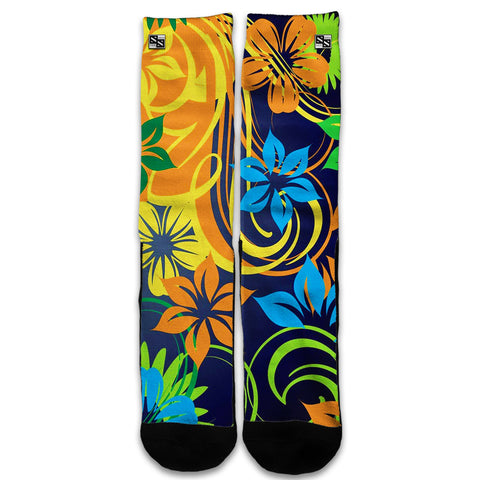 Tropical Flowers Universal Socks