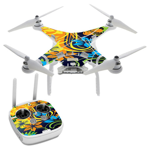 Tropical Flowers DJI Phantom 3 Professional Skin