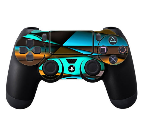 Awesome Blue Gold Pattern Sony Playstation PS4 Controller Skin