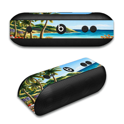 Beach Water Palm Trees Beats by Dre Pill Plus Skin
